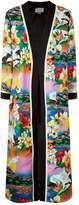 Gucci Hawaiian Print Coat, Pink, IT 42
