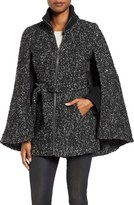 Laundry by Shelli Segal Women's Tweed Boucle Belted Cape