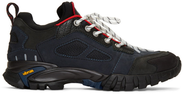 Heron Preston Black and Navy Security Sneakers