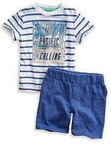 GUESS Daley Striped Tee and Shorts Set (12M-4T)
