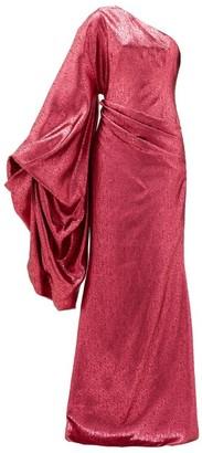 Halpern Asymmetric Devore-lame Gown - Womens - Fuchsia