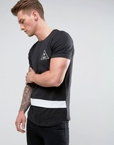 Jack and Jones Mono Curved Hem T-Shirt