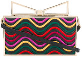 Sara Battaglia Ladyme Waves clutch - women - Calf Leather/Polyester/Brass - One Size