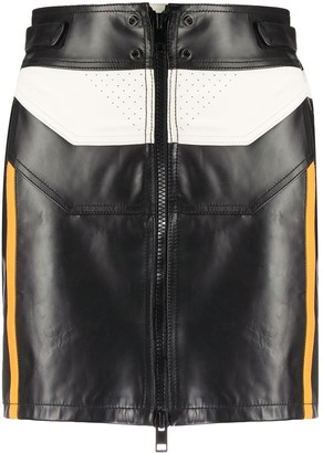 Diesel Colour-Block Biker Mini Skirt