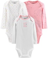 Carter's Baby Girl Little Planet Organic by 3-Pack Original Bodysuits