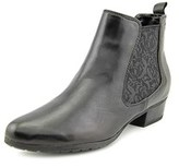 Gerry Weber Caren 03 Women Round Toe Leather Black Ankle Boot.
