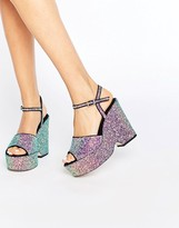 Asos HORATIO Glitter Wedges