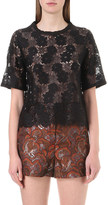 Sandro Mina floral-lace top