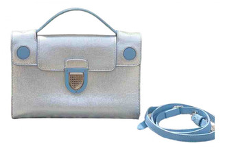 Christian Dior Diorever Silver Leather Handbags