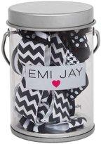 Emi Jay Black Tie Hair Ties in Paint Tin
