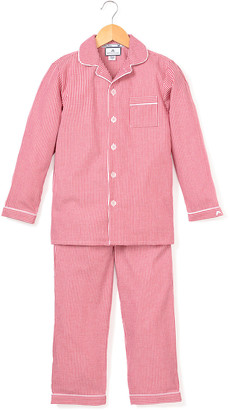 Petite Plume Mini Gingham Pajama Set, Size 6M-14