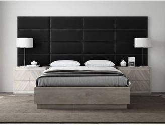 Vant Plush Velvet Black Upholstered Wall Panels For Full-Queen Headboard - Set of 4 panels