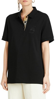 Burberry Hartford Checkered-Print Polo Shirt