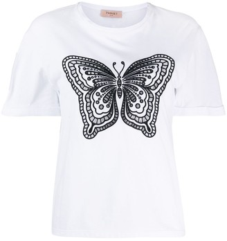 Twin-Set butterfly embroidered T-shirt