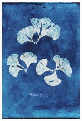 Jonathan Bass Studio Natural Forms Blue 4, Decorative Framed Hand Embellished Canvas