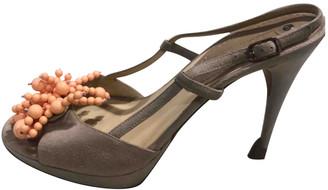 Celine Beige Suede Sandals