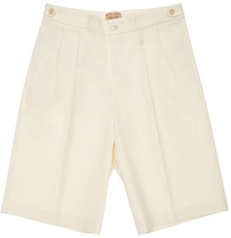 Gucci Embroidered Stretch Gabardine Shorts