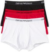 Emporio Armani Men's 3 Pack Cotton Trunks