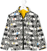 Fendi printed jacket - kids - Polyamide/Polyester - 4 yrs