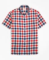 Brooks Brothers Plaid Madras Short-Sleeve Sport Shirt