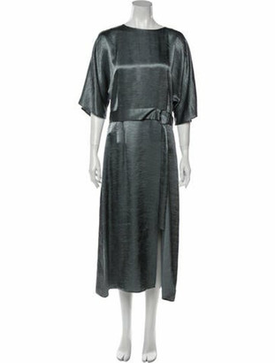 Sally LaPointe Scoop Neck Long Dress w/ Tags Blue