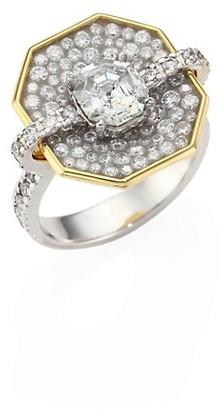 Plevé Opus Diamond & 18K White Gold Octagon Ring