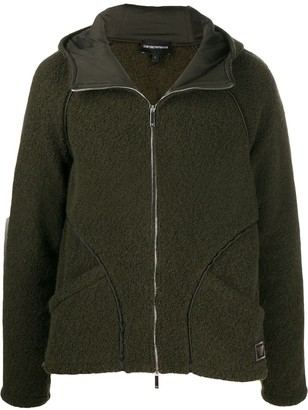 Emporio Armani Contrast-Trimmed Zip-Up Hoodie