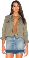 Joe's Jeans The Military Crop Jacket in Army. - size L (also in M,S)