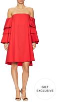 Off Shoulder Tiered Sleeve A-Line Dress