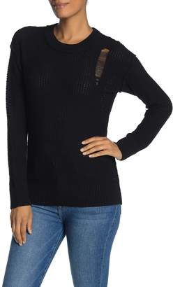 n:philanthropy Amsterdam Inside Out Distressed Knit Sweater