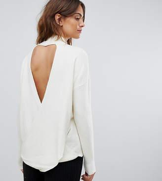 Micha Lounge sweater with cross drape back-Cream