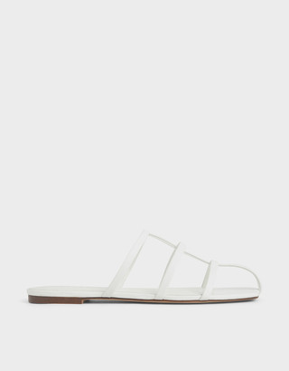 Charles & Keith Strappy Caged Flat Sandals