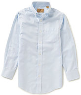 Class Club Gold Label Big Boys 8-20 Button-Down Houndstooth Non-Iron Long-Sleeve Shirt