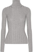 Acne Studios Corin Ribbed Merino Wool-blend Turtleneck Sweater - Light gray