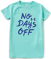 Under Armour Big Girls 7-16 No Days Off Short-Sleeve Tee