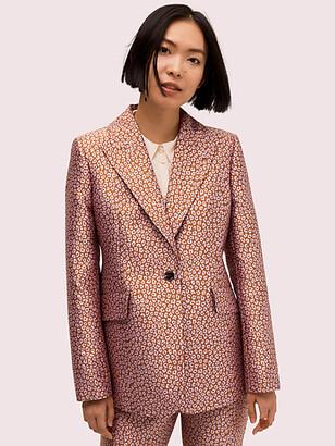 Kate Spade Flora Leopard Jacquard Blazer