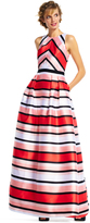 Adrianna Papell Stripes Multi-Color Long Dress AP1E200792