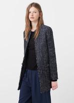 MANGO Flecked Cotton-Blend Coat