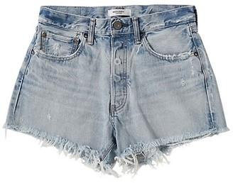 Moussy MV Mathews Frayed Hem Denim Shorts