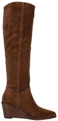 Vince Marlow Tall Suede Wedge Boots