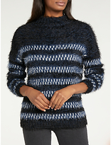 Lee Long Sleeve Relaxed Striped Jumper, Midnight Blue