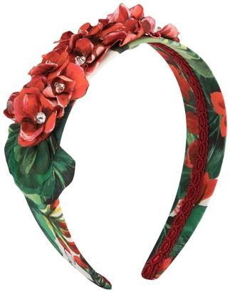 Dolce & Gabbana TEEN floral print headband