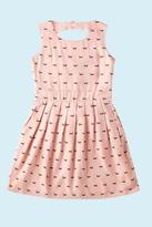 Yumi Girls Sausage Dog Print Dress Pink