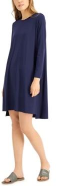 Eileen Fisher High-Low Crewneck Dress