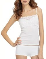 Hanro Luxury Moments Lace-Accented Camisole