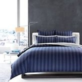 Hudson Park Collection Shadow Stripe Twin Comforter/Duvet Cover, Navy