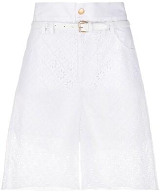 Philosophy di Lorenzo Serafini Embroidered Paperbag Waist Shorts