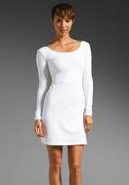 Susana Monaco Long Sleeve Low Back Dress