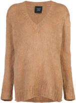 Smythe hand knit v-neck jumper