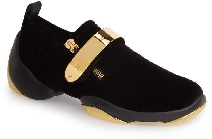 Giuseppe Zanotti Gold Bar Sneaker